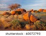 Landscape With Granite Boulder...