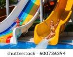 swimming pool slides for... | Shutterstock . vector #600736394