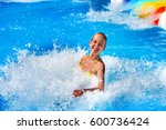 swimming pool slides for...   Shutterstock . vector #600736424