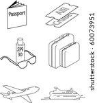 vector images of travel necessities - stock vector