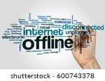 offline word cloud concept on... | Shutterstock . vector #600743378
