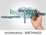 incident response word cloud...   Shutterstock . vector #600744620