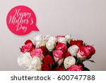 bouquet of roses background.... | Shutterstock . vector #600747788