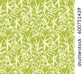 bamboo seamless pattern on... | Shutterstock .eps vector #600751439