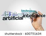 artificial intelligence word... | Shutterstock . vector #600751634