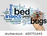 bed bugs word cloud concept on... | Shutterstock . vector #600751643