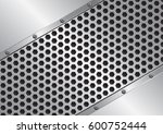 metal background with grate... | Shutterstock .eps vector #600752444