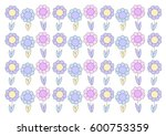 abstract flower pattern | Shutterstock .eps vector #600753359