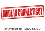 made in connecticut sign or... | Shutterstock .eps vector #600753710
