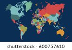 world map countries vector on... | Shutterstock .eps vector #600757610