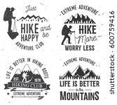 set of extreme adventure badges.... | Shutterstock .eps vector #600759416
