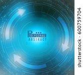 futuristic technology hud... | Shutterstock .eps vector #600759704