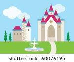vector illustration of a castle ... | Shutterstock .eps vector #60076195