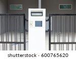 modern door bell with lamp | Shutterstock . vector #600765620