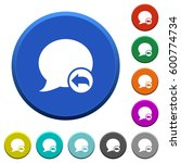 reply blog comment round color... | Shutterstock .eps vector #600774734