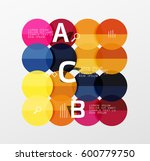 colorful glossy circle... | Shutterstock .eps vector #600779750