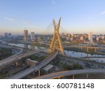 Small photo of Octavio Frias de Oliveira Bridge, constructed in 2008, landmark of Sao Paulo, Brazil