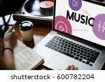 music streaming media... | Shutterstock . vector #600782204