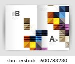 modern minimalistic geometrical ... | Shutterstock .eps vector #600783230