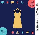sundress  evening dress ... | Shutterstock .eps vector #600784910