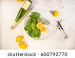 baked oyster with spinach and... | Shutterstock . vector #600792770