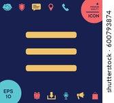 menu icon | Shutterstock .eps vector #600793874