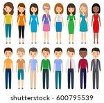 characters flat people. vector... | Shutterstock .eps vector #600795539