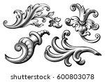 vintage baroque victorian frame ... | Shutterstock .eps vector #600803078