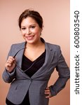 happy hispanic woman. | Shutterstock . vector #600803540