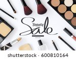 shopping concept  makeup... | Shutterstock . vector #600810164