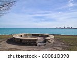 Large  Round Stone Fire Pit In...