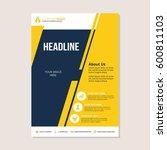 a4 flyer vector design template. | Shutterstock .eps vector #600811103