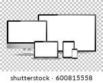 set of realistic computer...   Shutterstock .eps vector #600815558