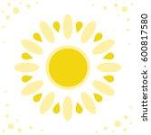 sun vector icon. star... | Shutterstock .eps vector #600817580