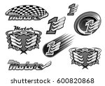 car racing or motor sport races ... | Shutterstock .eps vector #600820868