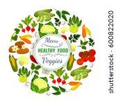 veggies poster of vector...   Shutterstock .eps vector #600822020
