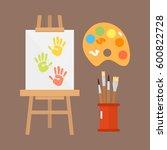 themed kids creativity creation ... | Shutterstock .eps vector #600822728