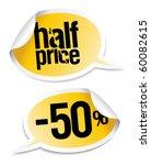 half price sale stickers set in ... | Shutterstock .eps vector #60082615