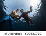 underwater shot of the... | Shutterstock . vector #600831710
