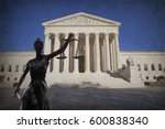 silhouette lady of justice... | Shutterstock . vector #600838340