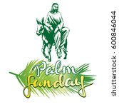palm sunday  jesus christ rides ...   Shutterstock .eps vector #600846044