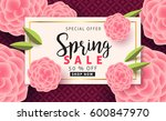 spring sale background layout... | Shutterstock .eps vector #600847970