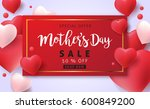 mothers day sale background... | Shutterstock .eps vector #600849200