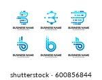 set of b initial logo... | Shutterstock .eps vector #600856844
