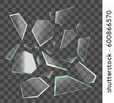 realistic shards of broken... | Shutterstock .eps vector #600866570