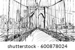 Sketch Of Cityscape In New Yor...
