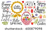 easter holiday hand drawn... | Shutterstock .eps vector #600879098