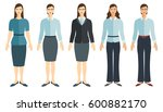 young women in flat style.... | Shutterstock .eps vector #600882170