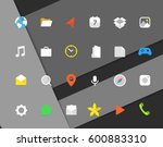 modern smartphone color icons...