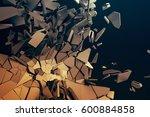 abstract 3d rendering of... | Shutterstock . vector #600884858